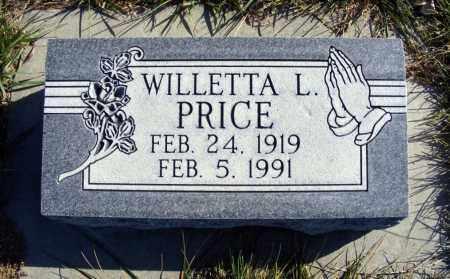 PRICE, WILLETTA L. - Box Butte County, Nebraska | WILLETTA L. PRICE - Nebraska Gravestone Photos