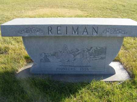 REIMAN, FAMILY - Box Butte County, Nebraska | FAMILY REIMAN - Nebraska Gravestone Photos