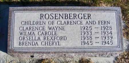 ROSENBERGER, ORSELLA REXFORD - Box Butte County, Nebraska | ORSELLA REXFORD ROSENBERGER - Nebraska Gravestone Photos