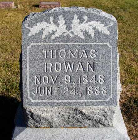 ROWAN, THOMAS - Box Butte County, Nebraska | THOMAS ROWAN - Nebraska Gravestone Photos