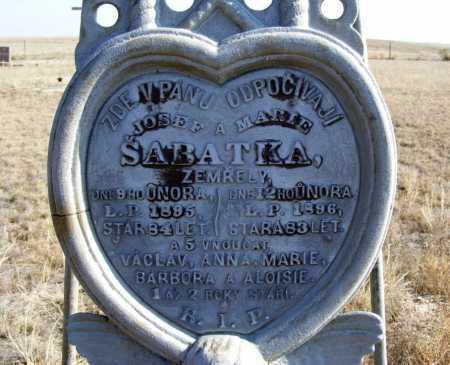SABATKA, BARBORA - Box Butte County, Nebraska | BARBORA SABATKA - Nebraska Gravestone Photos