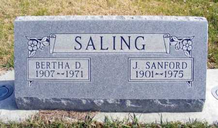 SALING, BERTHA D. - Box Butte County, Nebraska | BERTHA D. SALING - Nebraska Gravestone Photos