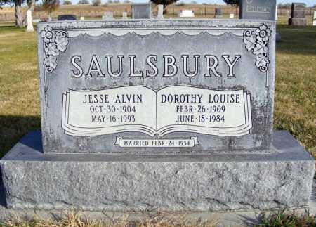 SAULSBURY, JESSE ALVIN - Box Butte County, Nebraska   JESSE ALVIN SAULSBURY - Nebraska Gravestone Photos