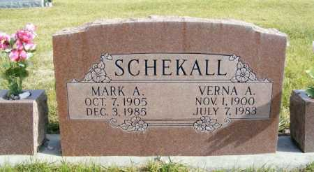 SCHEKALL, MARK A. - Box Butte County, Nebraska | MARK A. SCHEKALL - Nebraska Gravestone Photos
