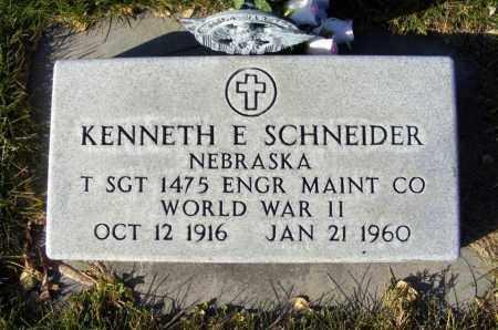 SCHNEIDER, KENNETH E. - Box Butte County, Nebraska | KENNETH E. SCHNEIDER - Nebraska Gravestone Photos