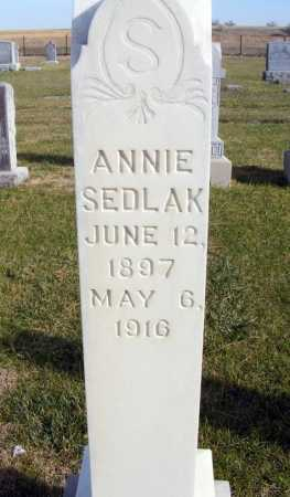 SEDLAK, ANNIE - Box Butte County, Nebraska | ANNIE SEDLAK - Nebraska Gravestone Photos