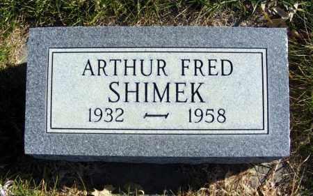 SHIMEK, ARTHUR FRED - Box Butte County, Nebraska | ARTHUR FRED SHIMEK - Nebraska Gravestone Photos