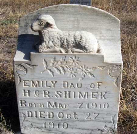 SHIMEK, EMILY - Box Butte County, Nebraska | EMILY SHIMEK - Nebraska Gravestone Photos