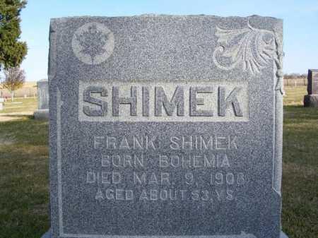 SHIMEK, FRANK - Box Butte County, Nebraska   FRANK SHIMEK - Nebraska Gravestone Photos