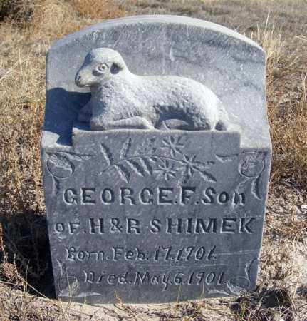 SHIMEK, GEORGE F. - Box Butte County, Nebraska | GEORGE F. SHIMEK - Nebraska Gravestone Photos
