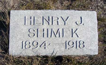 SHIMEK, HENRY J. - Box Butte County, Nebraska   HENRY J. SHIMEK - Nebraska Gravestone Photos