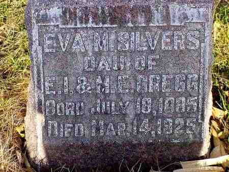 GREGG SILVERS, EVA M. - Box Butte County, Nebraska | EVA M. GREGG SILVERS - Nebraska Gravestone Photos
