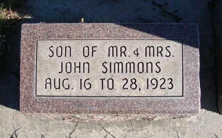 SIMMONS, INFANT SON - Box Butte County, Nebraska | INFANT SON SIMMONS - Nebraska Gravestone Photos