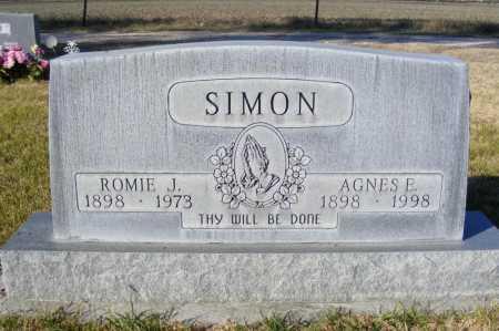 SIMON, AGNES E. - Box Butte County, Nebraska | AGNES E. SIMON - Nebraska Gravestone Photos