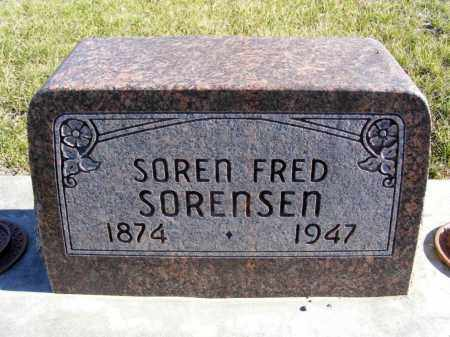 SORENSEN, SOREN FRED - Box Butte County, Nebraska | SOREN FRED SORENSEN - Nebraska Gravestone Photos