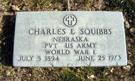 SQUIBBS, CHARLES L. - Box Butte County, Nebraska   CHARLES L. SQUIBBS - Nebraska Gravestone Photos