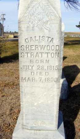 SHERWOOD STRATTON, CALISTA - Box Butte County, Nebraska | CALISTA SHERWOOD STRATTON - Nebraska Gravestone Photos