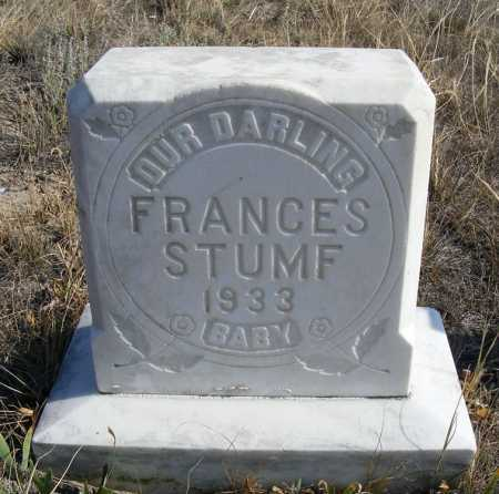 STUMF, FRANCES - Box Butte County, Nebraska | FRANCES STUMF - Nebraska Gravestone Photos