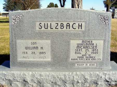 MICHAELSEN SULZBACH, WILHELMINNA J. - Box Butte County, Nebraska | WILHELMINNA J. MICHAELSEN SULZBACH - Nebraska Gravestone Photos