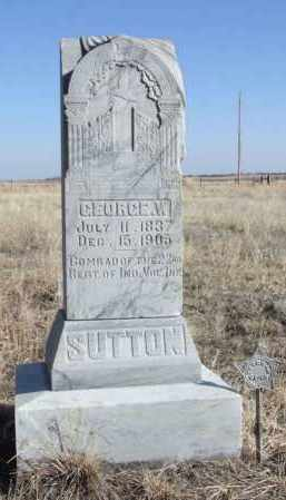 SUTTON, GEORGE W. - Box Butte County, Nebraska | GEORGE W. SUTTON - Nebraska Gravestone Photos