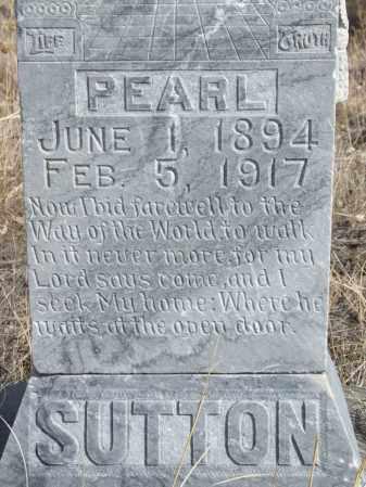 SUTTON, PEARL (CLOSE-UP) - Box Butte County, Nebraska | PEARL (CLOSE-UP) SUTTON - Nebraska Gravestone Photos