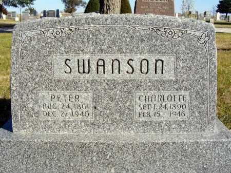 SWANSON, CHARLOTTE - Box Butte County, Nebraska   CHARLOTTE SWANSON - Nebraska Gravestone Photos