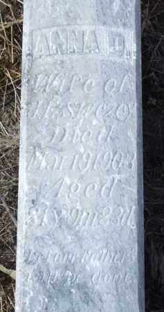 SWEZEY, ANNA D. (CLOSE-UP) - Box Butte County, Nebraska | ANNA D. (CLOSE-UP) SWEZEY - Nebraska Gravestone Photos
