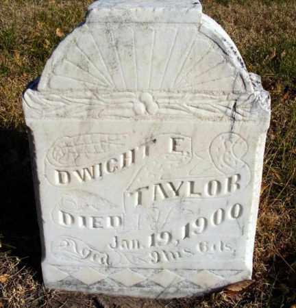 TAYLOR, DWIGHT E. - Box Butte County, Nebraska | DWIGHT E. TAYLOR - Nebraska Gravestone Photos
