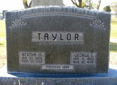 TAYLOR, BERTHA M. - Box Butte County, Nebraska | BERTHA M. TAYLOR - Nebraska Gravestone Photos