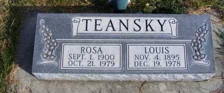 TEANSKY, LOUIS - Box Butte County, Nebraska | LOUIS TEANSKY - Nebraska Gravestone Photos