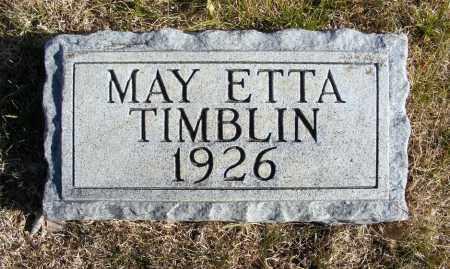 TIMBLIN, MAY ETTA - Box Butte County, Nebraska | MAY ETTA TIMBLIN - Nebraska Gravestone Photos