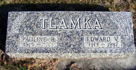 TLAMKA, EDWARD V. - Box Butte County, Nebraska | EDWARD V. TLAMKA - Nebraska Gravestone Photos