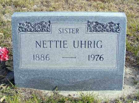 UHRIG, NETTIE - Box Butte County, Nebraska   NETTIE UHRIG - Nebraska Gravestone Photos