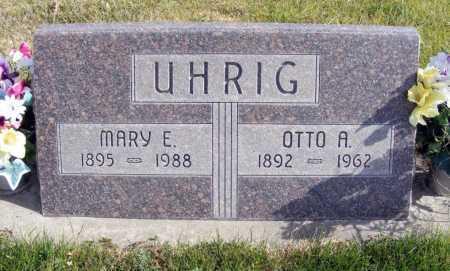 UHRIG, MARY E. - Box Butte County, Nebraska | MARY E. UHRIG - Nebraska Gravestone Photos