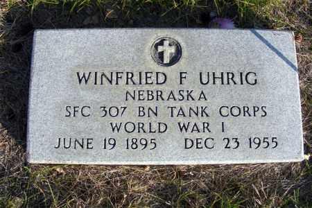 UHRIG, WINFRIED F. - Box Butte County, Nebraska   WINFRIED F. UHRIG - Nebraska Gravestone Photos