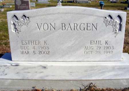 VON BARGEN, ESTHER K. - Box Butte County, Nebraska   ESTHER K. VON BARGEN - Nebraska Gravestone Photos