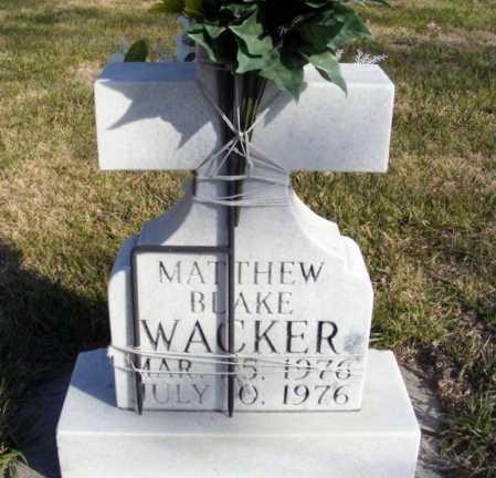 WACKER, MATTHEW BLAKE - Box Butte County, Nebraska | MATTHEW BLAKE WACKER - Nebraska Gravestone Photos