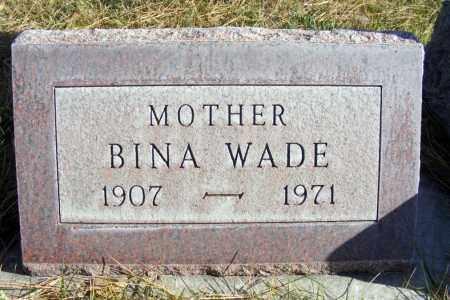 WADE, BINA - Box Butte County, Nebraska | BINA WADE - Nebraska Gravestone Photos