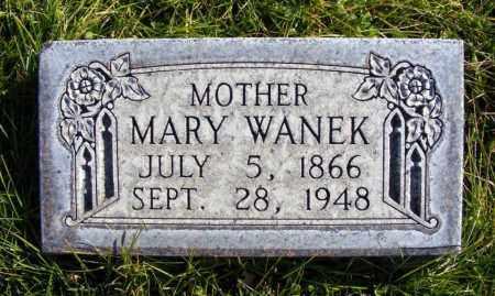 WANEK, MARY - Box Butte County, Nebraska | MARY WANEK - Nebraska Gravestone Photos