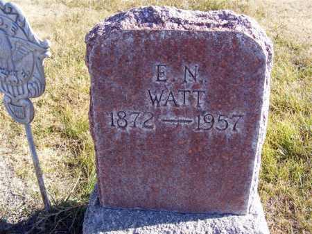 WATT, E.N. - Box Butte County, Nebraska | E.N. WATT - Nebraska Gravestone Photos