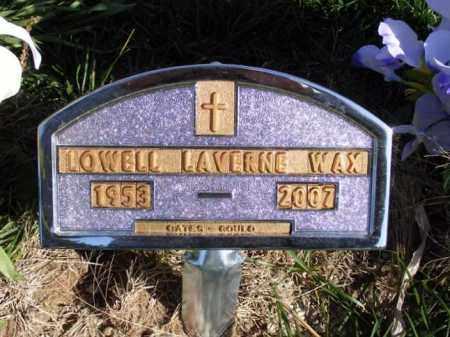 WAX, LOWELL LAVERNE - Box Butte County, Nebraska | LOWELL LAVERNE WAX - Nebraska Gravestone Photos