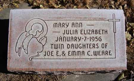 WEARE, JULIA ELIZABETH - Box Butte County, Nebraska   JULIA ELIZABETH WEARE - Nebraska Gravestone Photos