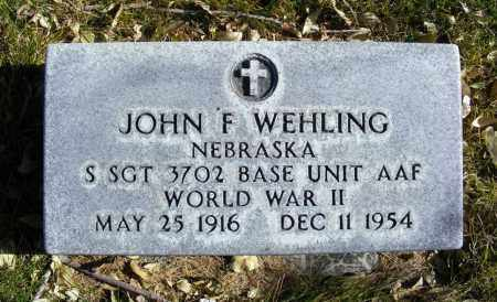 WEHLING, JOHN F. - Box Butte County, Nebraska | JOHN F. WEHLING - Nebraska Gravestone Photos