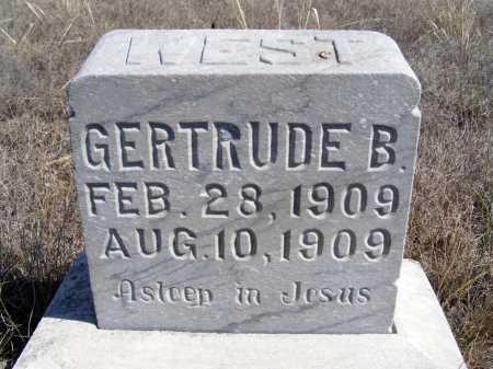 WEST, GERTRUDE B. - Box Butte County, Nebraska | GERTRUDE B. WEST - Nebraska Gravestone Photos