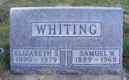 WHITING, ELIZABETH S. - Box Butte County, Nebraska | ELIZABETH S. WHITING - Nebraska Gravestone Photos