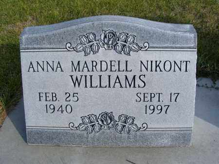NIKONT WILLIAMS, ANNA MARDELL - Box Butte County, Nebraska   ANNA MARDELL NIKONT WILLIAMS - Nebraska Gravestone Photos