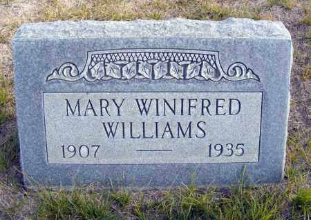 WILLIAMS, MARY WINIFRED - Box Butte County, Nebraska | MARY WINIFRED WILLIAMS - Nebraska Gravestone Photos