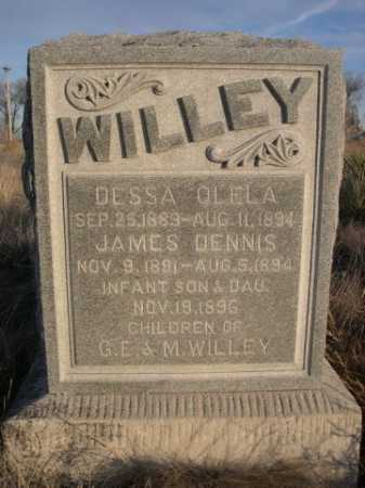 WILLEY, INFANT DAU. OF G.E. & M. - Box Butte County, Nebraska | INFANT DAU. OF G.E. & M. WILLEY - Nebraska Gravestone Photos