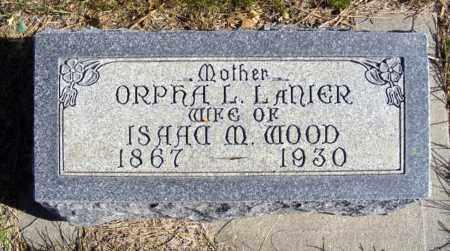 LANIER WOOD, ORPHA L. - Box Butte County, Nebraska | ORPHA L. LANIER WOOD - Nebraska Gravestone Photos