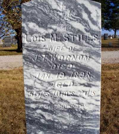 STILES WORNOM, LOIS M. - Box Butte County, Nebraska | LOIS M. STILES WORNOM - Nebraska Gravestone Photos